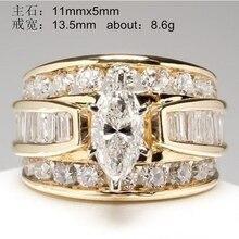 YOBEST encanto redondo anillo de cristal grande anillo de temperamento clásico europeo y americano nuevos productos populares