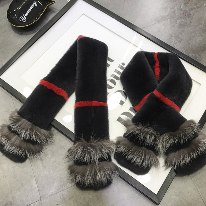 Real fur scarves