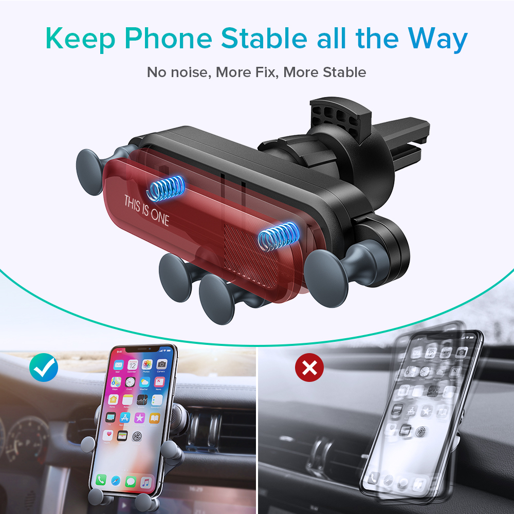 Image 3 - GETIHU Gravity Car Phone Holder Air Vent Clip Mount No Magnetic Mobile Support Cell Stand For iPhone X Xiaomi Smartphone In Car-in Phone Holders & Stands from Cellphones & Telecommunications
