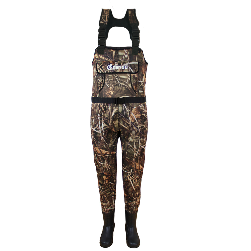 5MM Neoprene Insulated  Thermal Chest Wader, Waders For Fly Fishing With Rubber Boots ,keep You Warm In Cold Water,Ice, Snow,