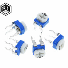 10 stücke Rm063 Rm-063 100 200 500 1k 2k 5k 10k 20k 50k 100k 200k 500k 1m Ohm Trimpot Trimmer Potentiometer Variable Widerstand(China)
