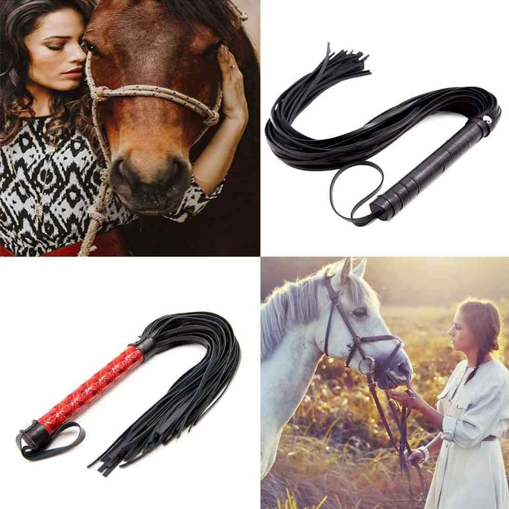 YIHOME Horse Whip Faux Leather Outdoor Training Racing Practice Equestrianism Horse Crop//Riding Crops//Riding Whips