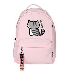 Image 3 - High Quality Neko Atsume Women Cat Backpack Kawaii Cute Bagpack Pink School Bags Cartoon Travel Backpack Laptop Daypack
