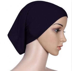 Image 1 - Couvre chapeau, Bonnet Ninja intérieur, hijab, foulard islamique pour femmes, couverture complète, 20 couleurs, nouveau lot de 20 pièces