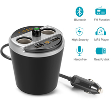 цена на Car MP3 Player Hands-free Automatic Audio Receiver Bluetooth Car USB Charger FM Transmitter Wireless Broadcast Adapter