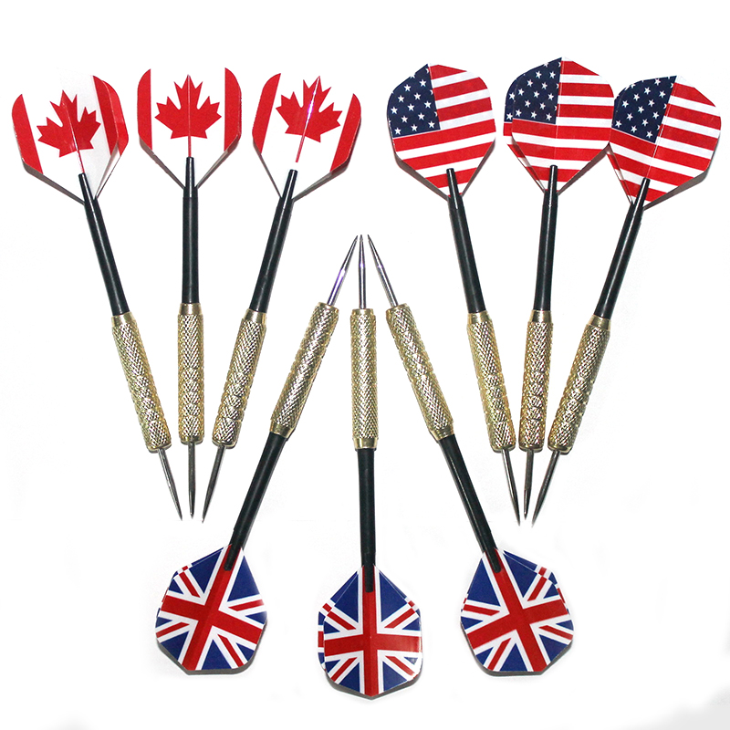 3PC 18g Professional Copper Steel Needle Tip Darts Tungsten Steel Tip Needle Shaft Soft Tip Dart Toys Set For Indoor Game