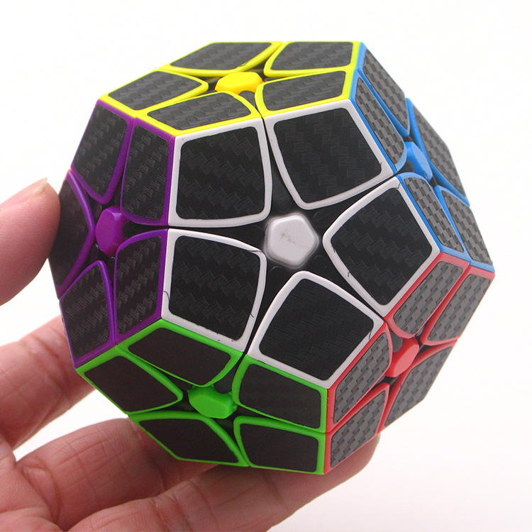 ZCUBE 2x2 Wumofang Carbon Fiber Sticker Special Shape 12 Surface Magic Cube Puzzle Cubo Magico Children Kid Gift Educational Toy