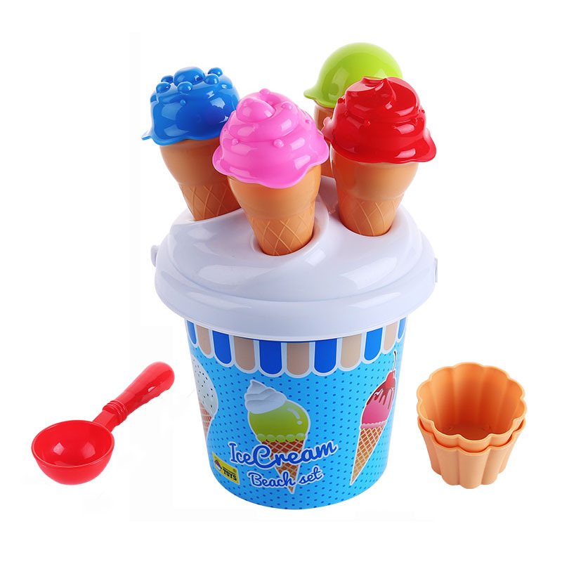 Children's Beach Toys Small Shovel Ice Cream Castle Combination Set Mermaid Dug Sand Bucket Outdoor Toys For Kids Gifts