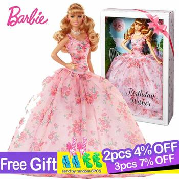 Original Barbie Brand 60th Birthday Celebration Dress Up Doll Beautiful Princess Dolls Reborn Baby Gift Toys Boneca for Girls
