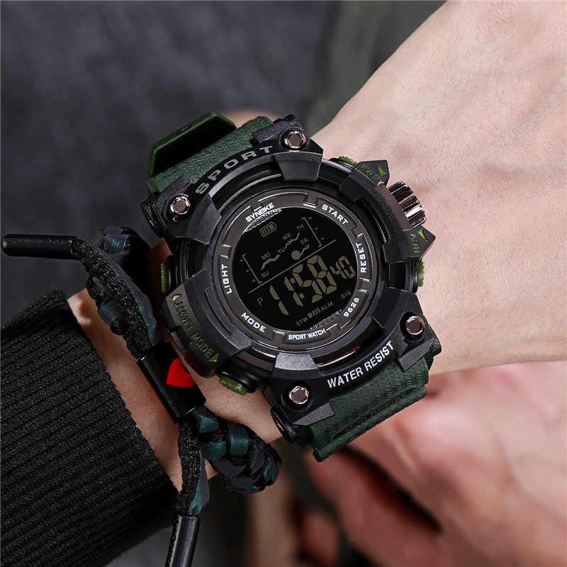 SYNOKE marka erkek izle şok dijital saat spor su geçirmez kronometre saatler erkekler için hediyeler Chronograph erkek Relogio Masculin