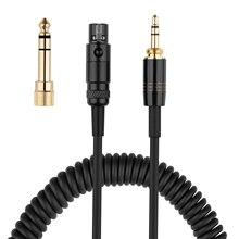 Mini XLR 3 Pin 6,35mm Ersatz Frühling Kabel Verlängerung Kabel Für AKG K141 K171 K175 K181 K240 K240S k271 K271s MKII Kopfhörer