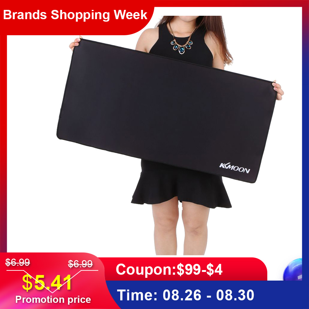 Kkmoon 900*300*3mm Large Size Plain Black Extended Water-resistant Anti-slip Rubber Speed Gaming Game Mouse Mice Pad Desk Mat Гриль