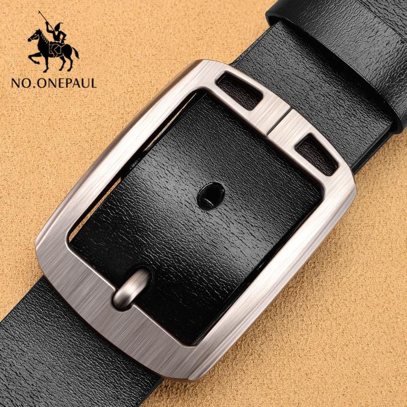 NO.ONEPAUL Men Belt Retro Fashion Pin Buckle Belts For Men Jeans Belt Luxury Brand Designer Design Belts Men Free Shipping