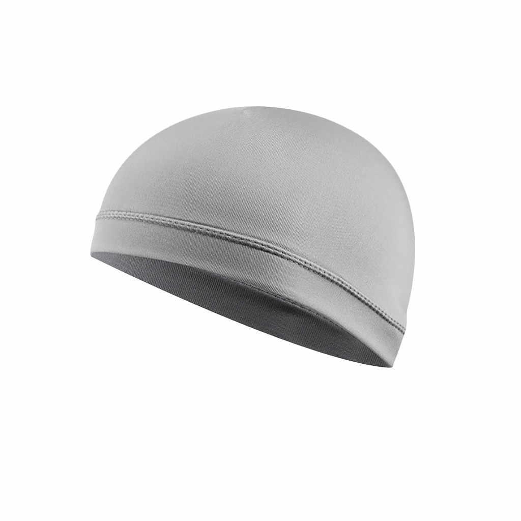 Wilgoć Wicking chłodzenia ochrony przeciwsłonecznej kask wykładziny wewnętrznej czapka czapka kopuła opaska mężczyzn oddychająca jazda na rowerze czapki na zewnątrz nakrycia głowy