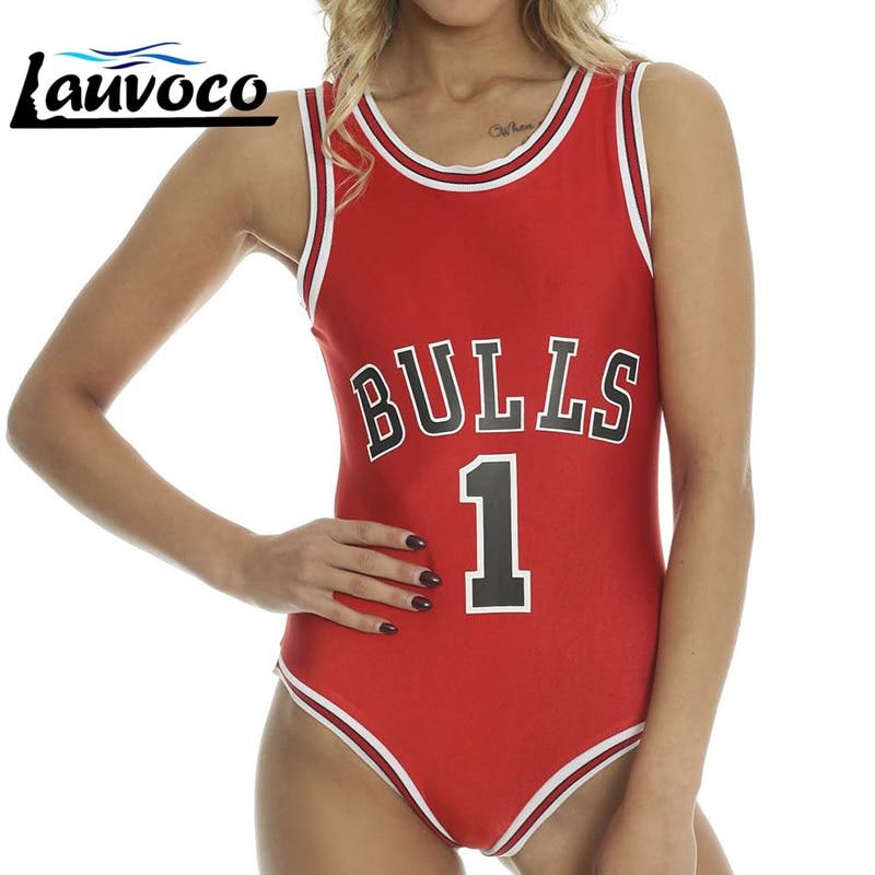 Women Bulls One Piece Monokini Bkini Push Up Padded Swimwear Swimsuit Beachwear