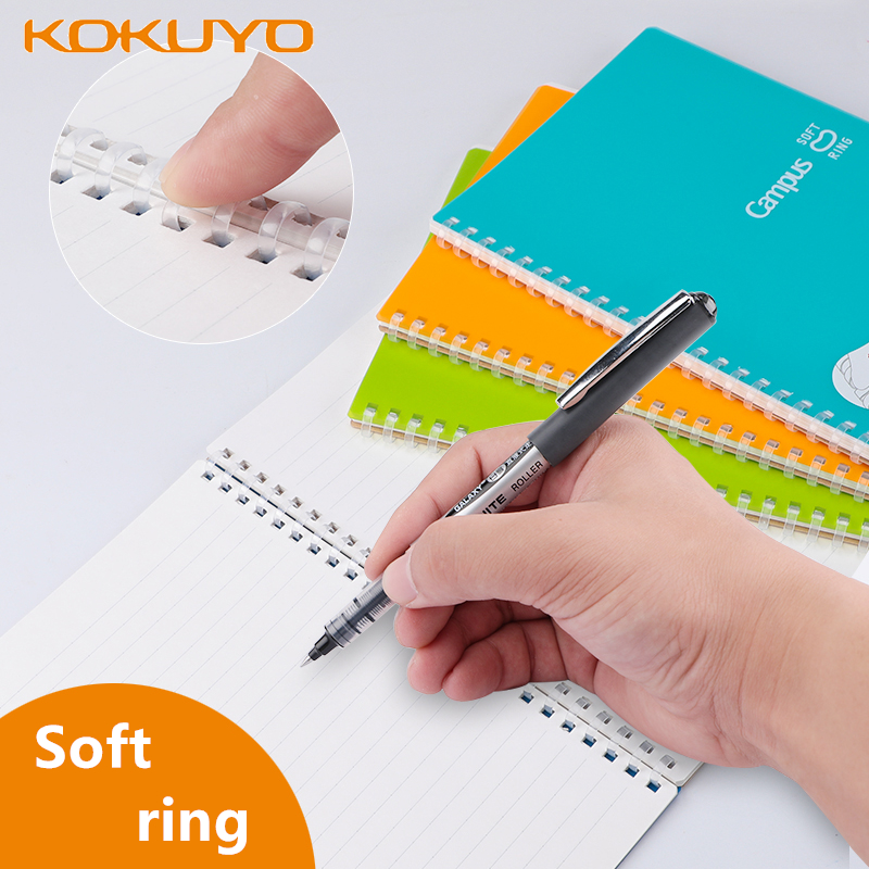 1 Pc KOKUYO WCN-CSR Campus Spiral Soft Ring Notebook Cover Diary Coil Book A5 B5 High-quality Paper Solid Color Simple Design