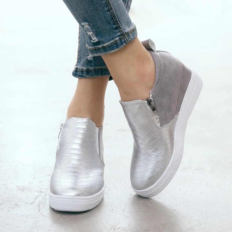 Femmes baskets Femme vulcanisé chaussures dames décontracté sans lacet dames chaussures plates femmes mode rétro baskets/automne