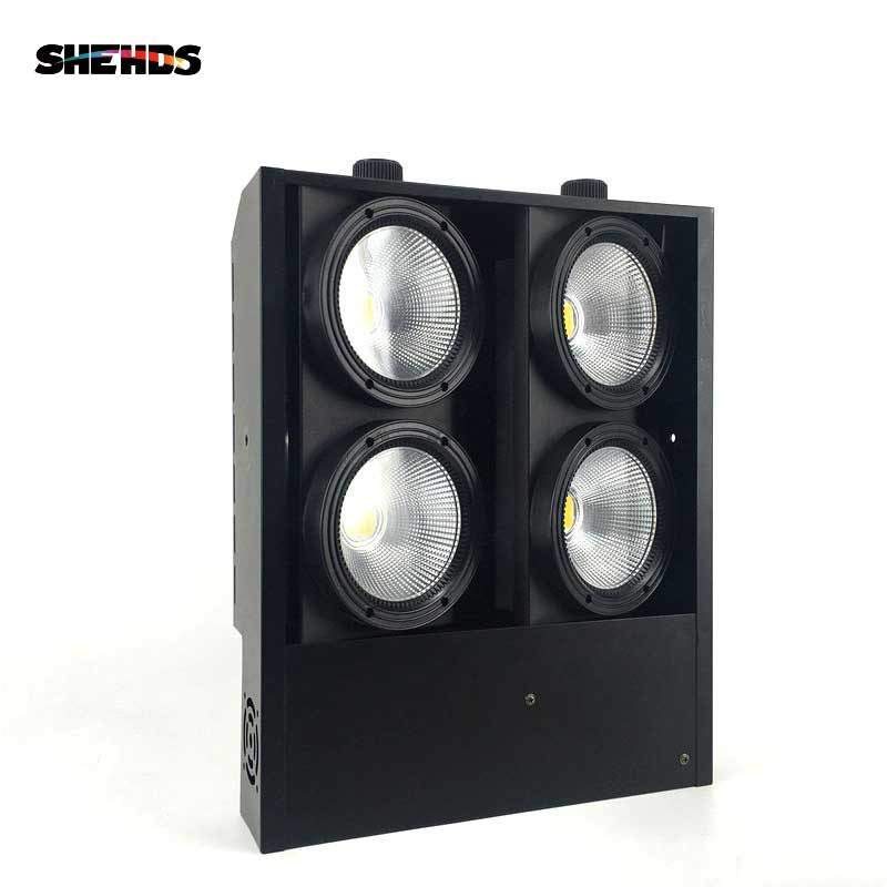 SHEHDS 4x100W 4 Eyes LED Blinder Light COB Cool And Warm White LED High Power Professional Stage Lighting For Dj Disco Party