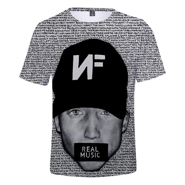 NF 3D print Real Music t-shirt 1