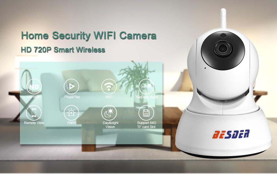 BESDER 1080P 720P أمن الوطن كاميرا IP اتجاهين الصوت كاميرا صغيرة لاسلكية للرؤية الليلية CCTV واي فاي كاميرا مراقبة الطفل iCsee