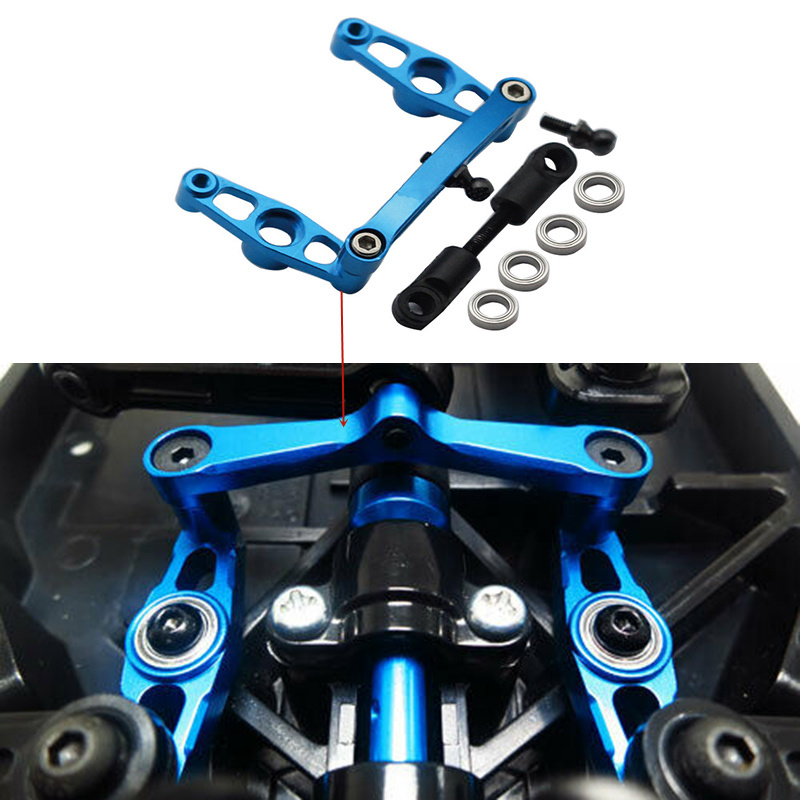 RC Aluminum Alloy Ball Bearing Crank Steering Set For Tamiya TT02 Upgrade Parts