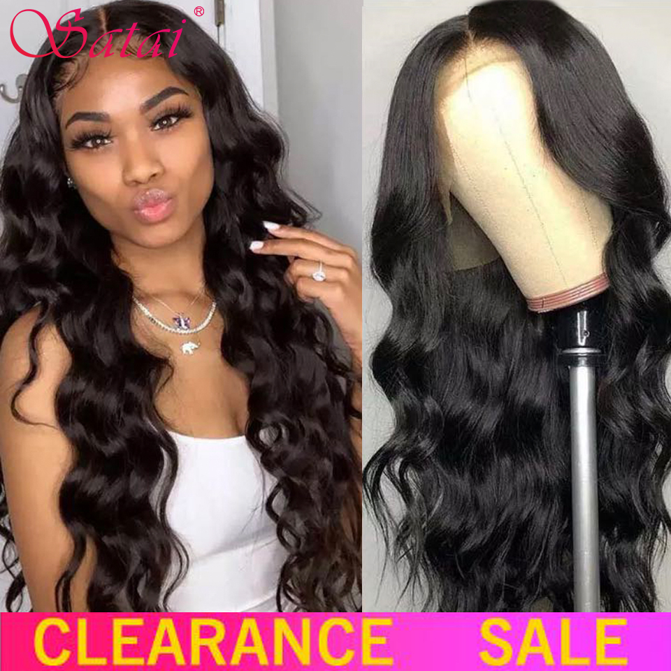 Satai Body Wave Wig 13x4 Lace Front Wig Brazilian Body Wave Lace Front Wig Remy Hair Lace Front Human Hair Wigs For Women