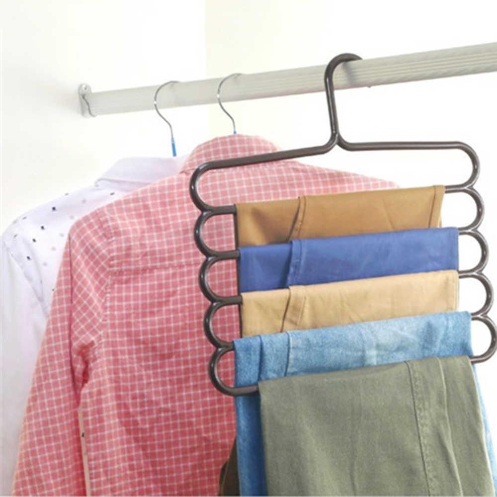 Multi-função roupas cabide gravata scarfs toalha antiderrapante magia cabide espaço saver portátil pant cabide armazenamento rack organizador
