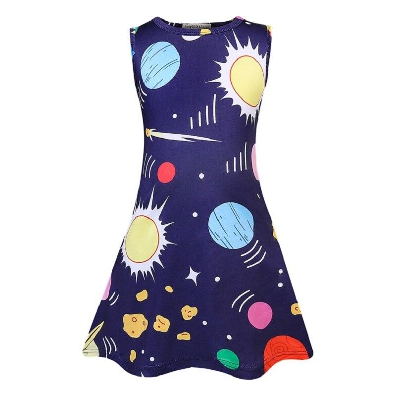 Summer Baby Girls Birthday Dress Unicorn 3D Print Kids Princess Costumes Party Cosplay Frocks Toddler Dresses Children Vestidos 4