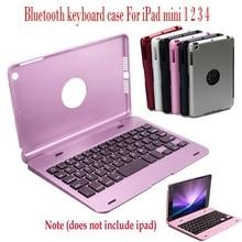 Тонкий чехол с клавиатурой, Беспроводная Bluetooth клавиатура, чехол-книжка, умный чехол с подставкой, для Apple Ipad Mini 1 2 3 4