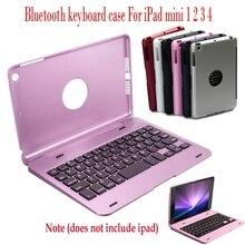 2020 Slim Case mit Tastatur Drahtlose Bluetooth Tastatur Folio Smart Fall Stehen Abdeckung Shell Für Apple iPad Mini 1 2 3 4