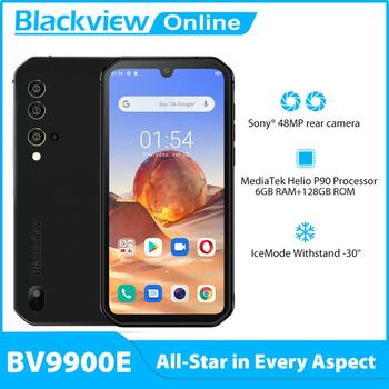 Blackview BV9900E Android 10 Rugged Mobile Phone Helio P90 6GB+128GB Cellphone 4380mAh 48MP Camera NFC Waterproof 4G Smartphone