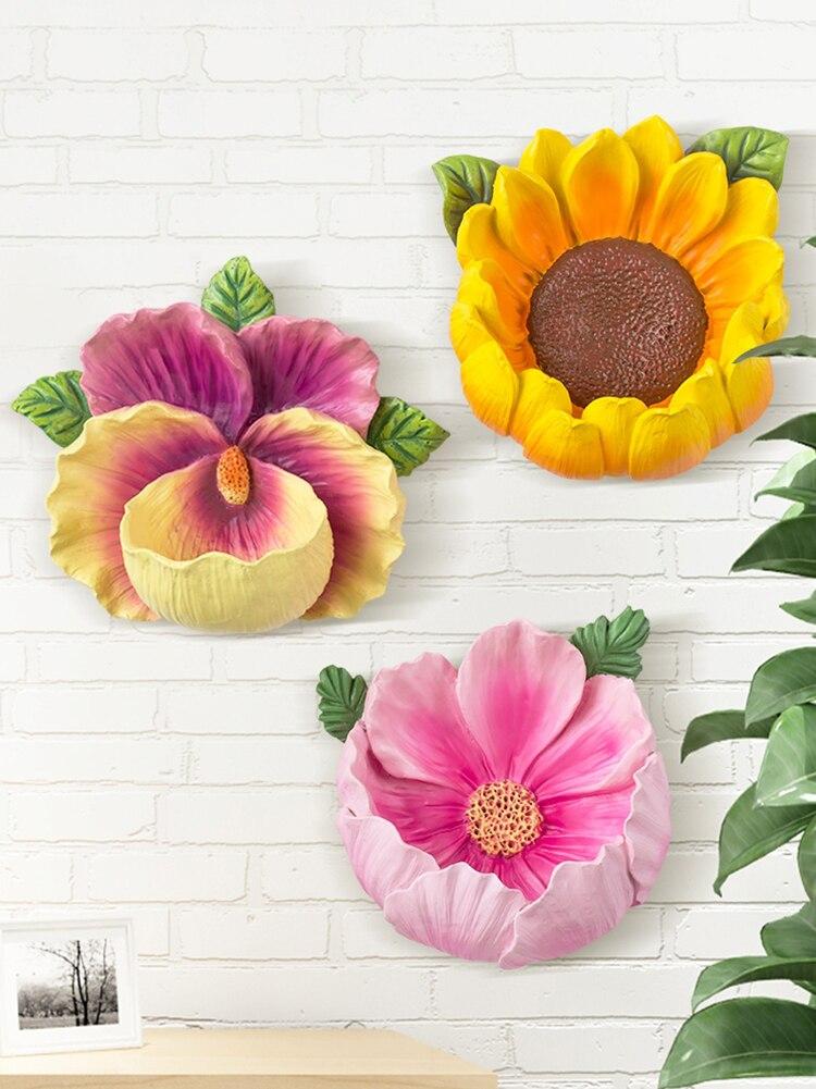 Настенные украшения, подвесные Креативные украшения для спальни, ресторана, магазина, настенные украшения на 3D цветочной стене в Северной Е...
