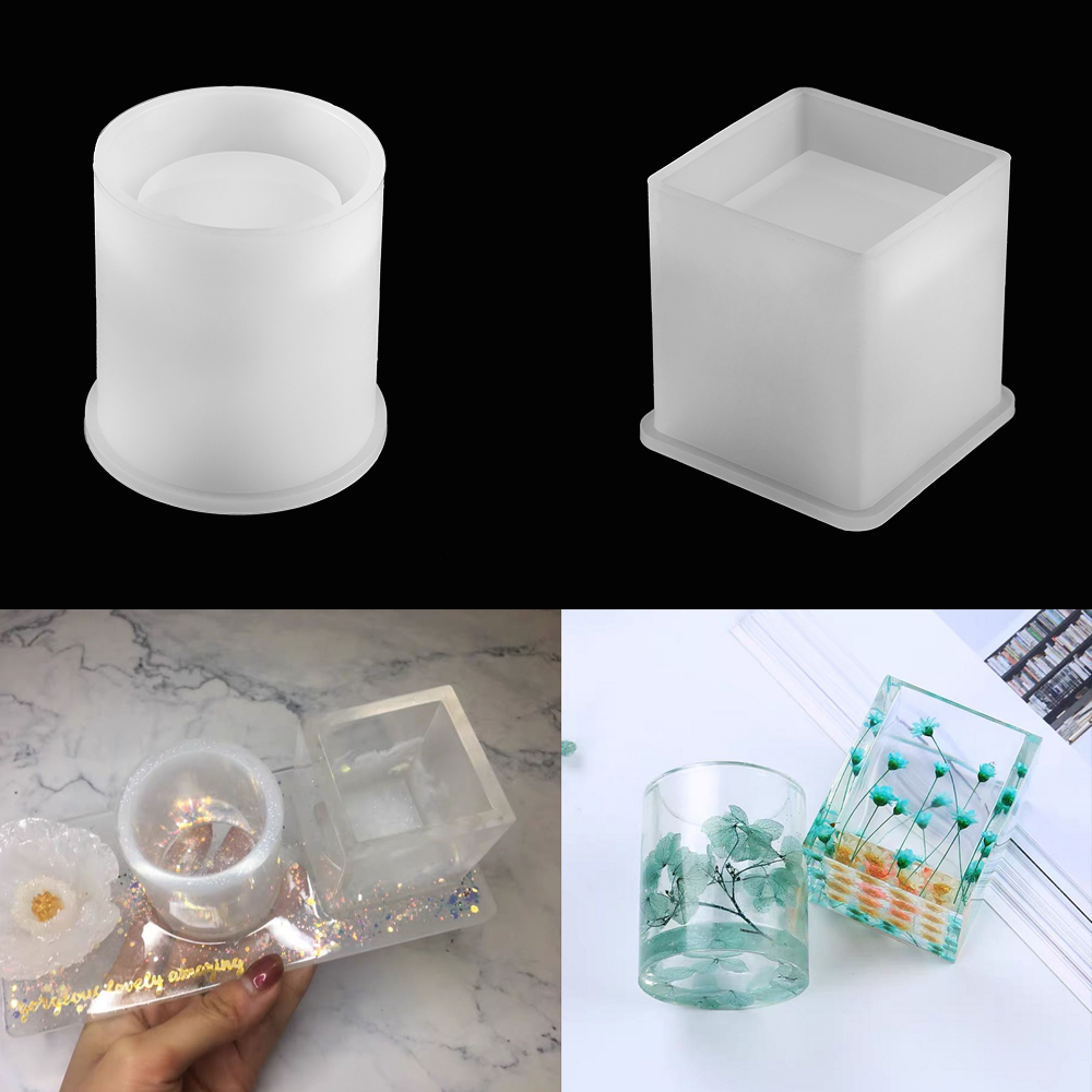 Crystal Silicone Mold DIY Making Mould Resin Craft for Necklace Pendant Jewelry