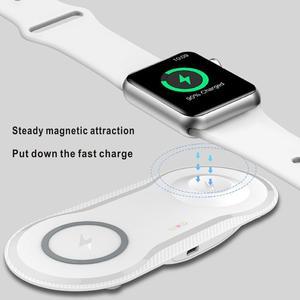 Image 2 - Wireless Charging Pad USB Quick Handy Uhr Dock Qi Drahtlose Ladegerät Für iphone 11 X XS Apple Uhr iwacth samsung Xiaomi