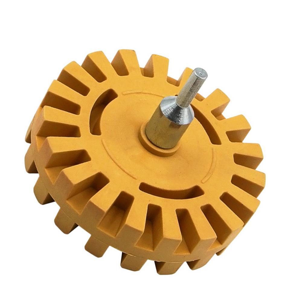 4 Inch Universal Rubber Eraser Wheel For Remove Car Glue Adhesive Sticker Auto Repair Paint Tool Rubber Eraser Wheel
