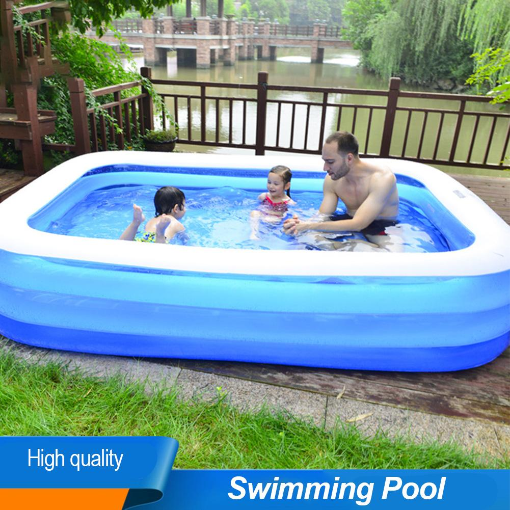 Kids Inflatable Pool High Quality Children's Home Use Paddling Pool Large Size Inflatable Square Swimming Pool For Baby Adults