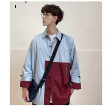 New 2019 Summer Shirt Men Street Casual Mens Korean Male Pockets High Quality Tops