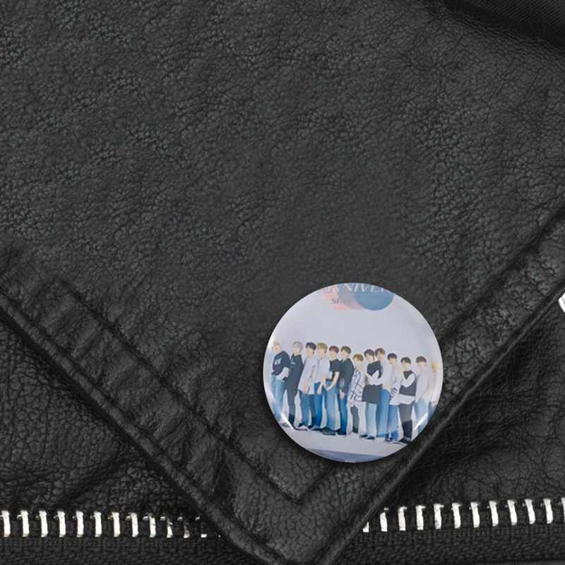 2pic/Set Baru Fashion Blackpink GOT7SEVENTEEN Dua Kali Txt Liar Anak Round Lencana untuk Tas Topi Pakaian Dada Pin Bros aksesoris