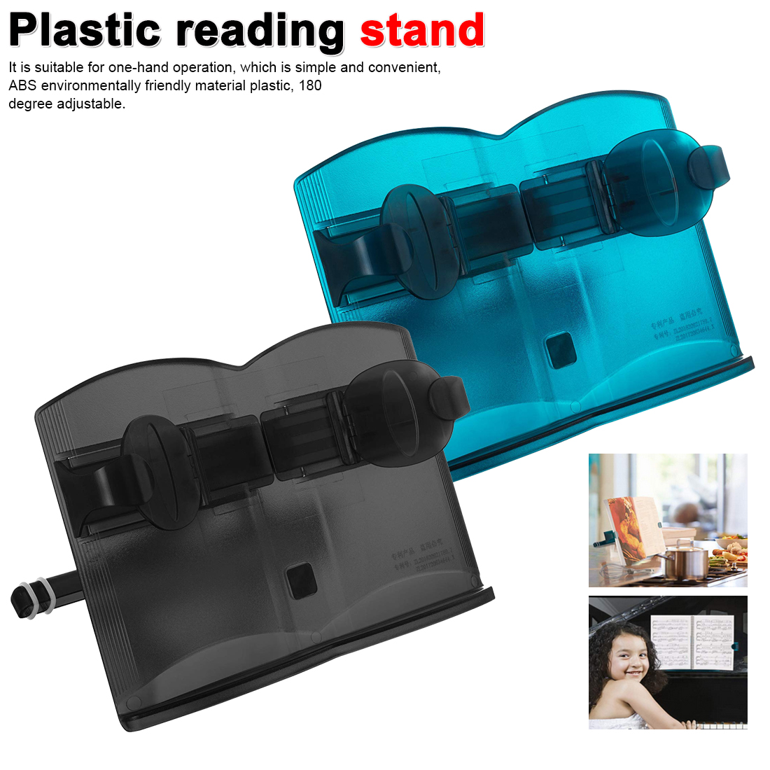 Adjustable Portable Children's Reading Stand Reading Office Supplies Multifunctional Plastic Book Stand Holder Reading Stand