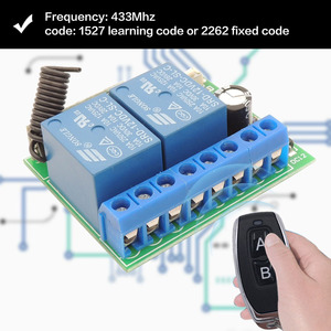 Image 3 - 433MHz Universal Wireless Remote Control DC 12V 2CH rf Relay Receiver and Transmitter for Universal Garage door and gate Control