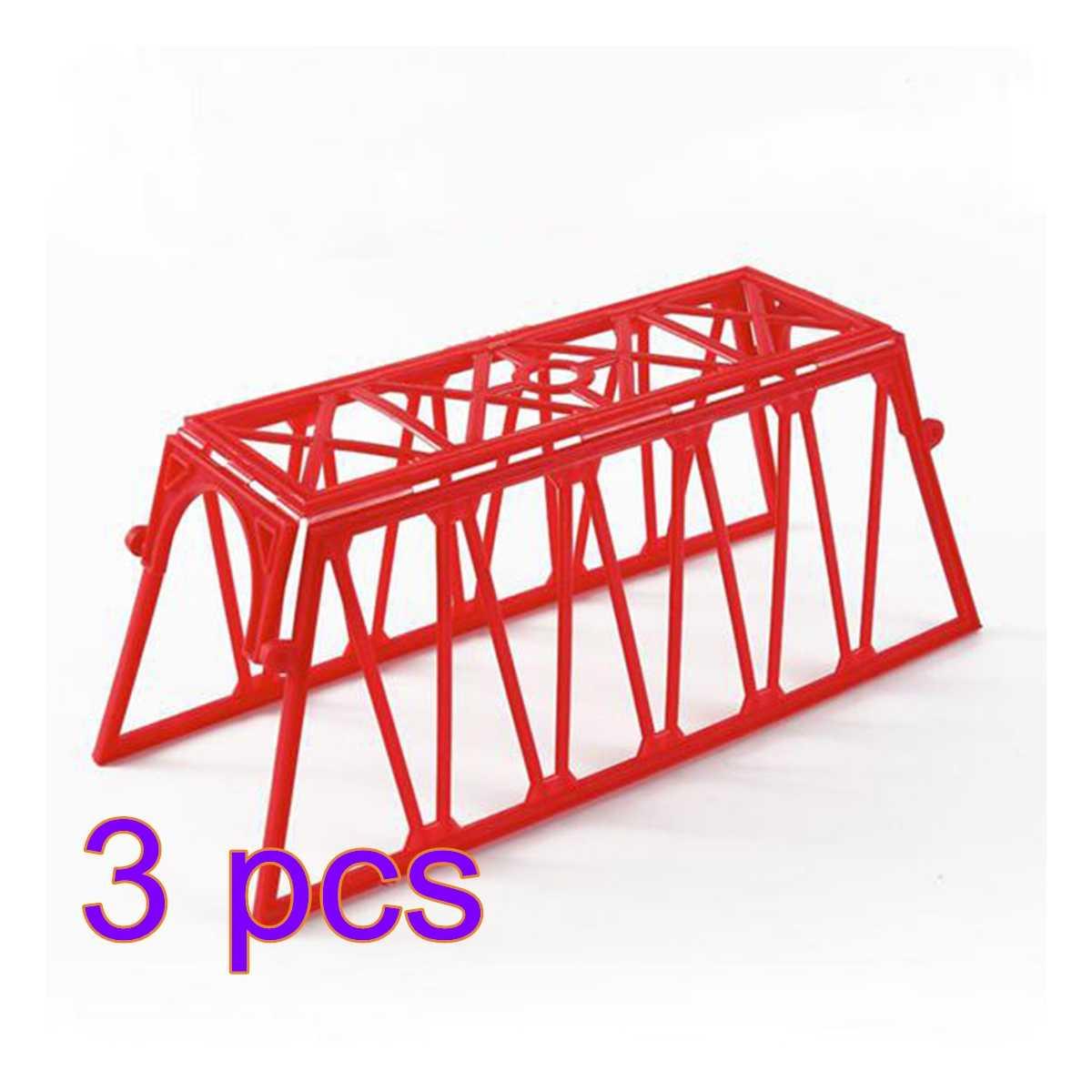 3/5/10 sztuk 1: 87 HO skala scenę kolejową dekoracji most sieci Model dla piaskownica stołowa modelu budynku-czerwony