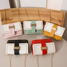 Women Bags Wholesale 2020 Candy Color Chain Small bag Fashion Personality Packet Clutch BagPU leather