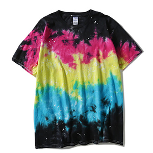 Image 3 - Plegie Tie Dye T shirt Unisex 2020 Summer Hip Hop Round Neck Mens Irregular pattern Tshirts 100%cotton Loose Tee Shirts