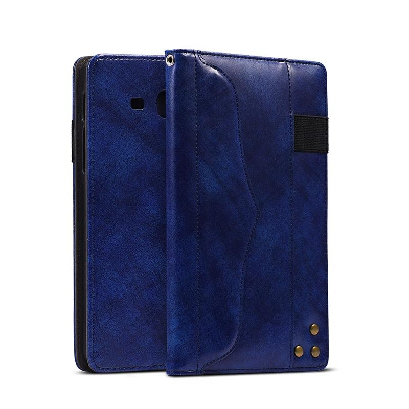 Genuine Wallet Book Leather <font><b>Cases</b></font> For <font><b>Samsung</b></font> <font><b>Galaxy</b></font> <font><b>Tab</b></font> <font><b>A</b></font> <font><b>7.0</b></font> 2016 T280 T285 Magnetic Stand Sleep Wakup Smart Cover <font><b>Case</b></font> image