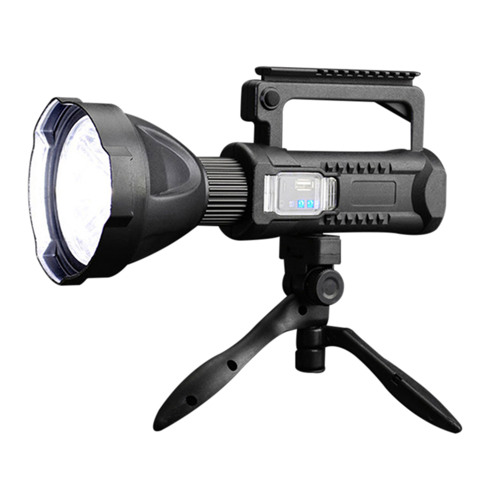 Super Bright LED Portable Floodlights Flashlight Searchlight with P70.2 Bulb Bead Mountable Bracket Suitable for Expedition