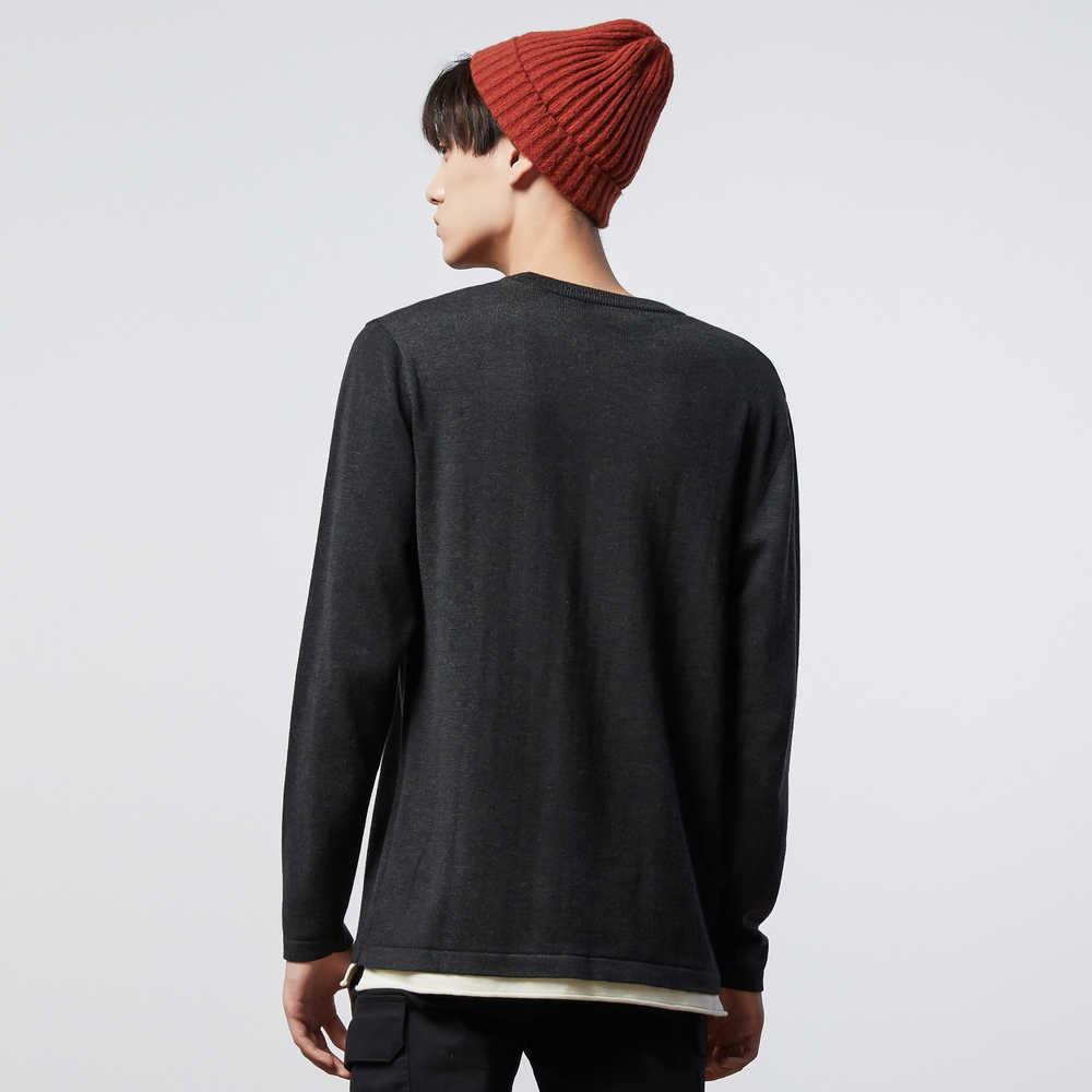 Metersbonwe 새로운 브랜드 뜨개질 스웨터 남자 봄 패션 새로운 긴 소매 레트로 레저 남자 면화 스웨터 고품질의 옷