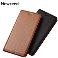 Bussiness Phone Case Genuine Leather Flip Cover For LG G8S ThinQ/LG G8 ThinQ/LG G7 ThinQ Flip Phone Cover Card Slot Holder Coque