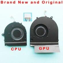 Refrigerador original novo do ventilador de refrigeração da cpu gpu para hp envy 17m-cg TPN-C146 l87962 L87961-001 dc 5 v 4pin