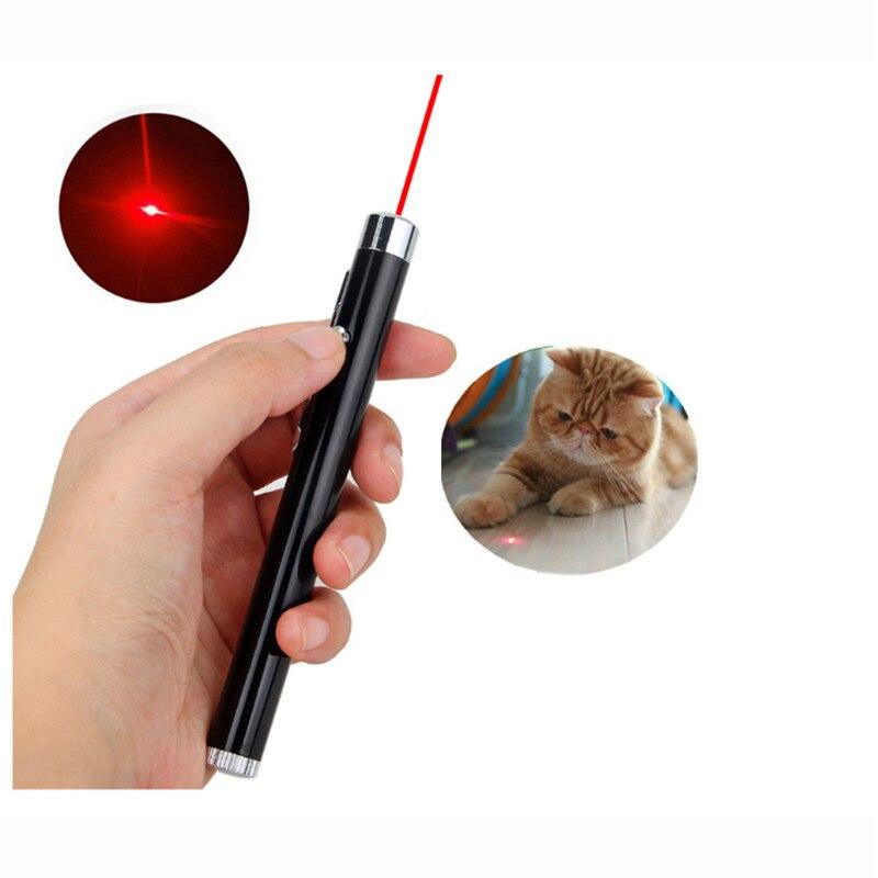 Red Laser Pointer Pen Mini Round Moon Shape Flashlight Focus Torch Lamp Flashlights LED Laser Pen For Cat Chase Training Toys