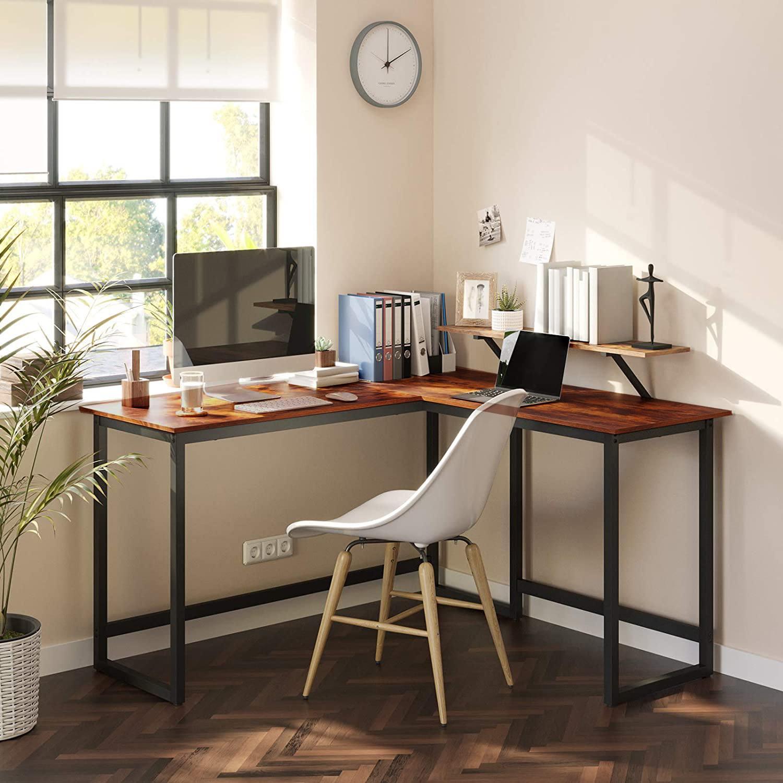 L בצורת שולחן מחשב מגיע עם מחשב מסך Riser גבוהה קיבולת מחשב נייד שולחן כתיבה שולחן בית משרד ריהוט muebles